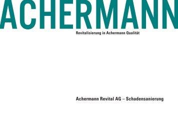 Broschüre Schadensan. - Achermann AG