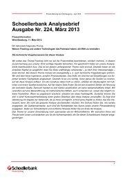 Schoellerbank Analysebrief Ausgabe Nr. 224, März 2013