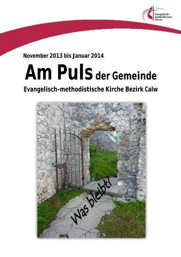 Gemeindebrief Nov. 2013- Jan. 2014 - EmK Calw