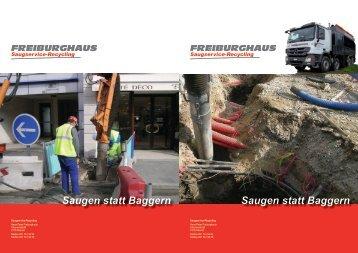 Saugen statt Baggern Saugen statt Baggern - Freiburghaus ...