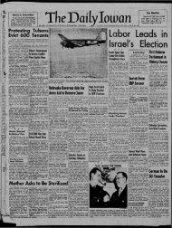 January 26 - The Daily Iowan Historic Newspapers - University of Iowa