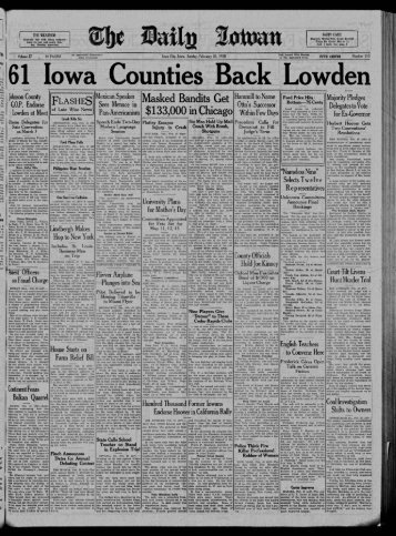 February 26 - The Daily Iowan Historic Newspapers - University of ...