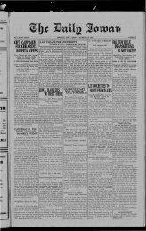November 30 - The Daily Iowan Historic Newspapers - University of ...