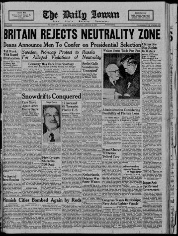 January 16 - The Daily Iowan Historic Newspapers - University of Iowa