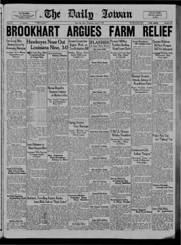 April 4 - The Daily Iowan Historic Newspapers - University of Iowa