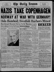 April 9 - The Daily Iowan Historic Newspapers - University of Iowa