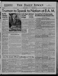 May 8 - The Daily Iowan Historic Newspapers - University of Iowa
