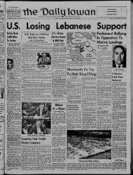 July 18 - The Daily Iowan Historic Newspapers - University of Iowa
