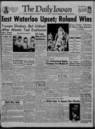 March 18 - The Daily Iowan Historic Newspapers