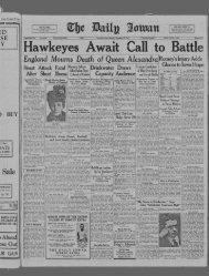 (Iowa City, Iowa), 1925-11-21 - The Daily Iowan Historic Newspapers