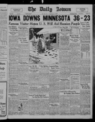 January 15 - The Daily Iowan Historic Newspapers - University of Iowa