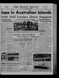 January 23 - The Daily Iowan Historic Newspapers - University of Iowa