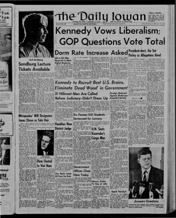 Daily Iowan (Iowa City, Iowa), 1960-11-11 - The Daily Iowan Historic ...