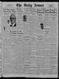 June 21 - The Daily Iowan Historic Newspapers - University of Iowa