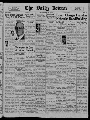June 21 - The Daily Iowan Historic Newspapers - University of Iowa