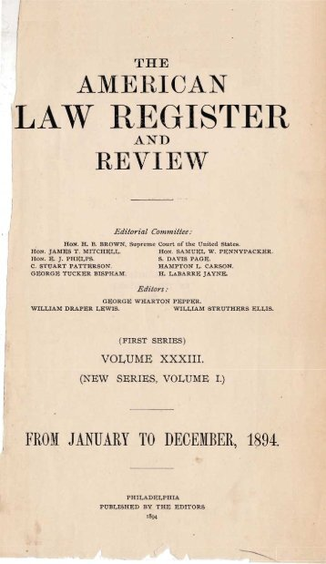 LAW REGISTER - The Clarence Darrow Collection
