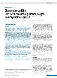 Dissoziative Anfälle: Eine Herausforderung für Neurologen und ...