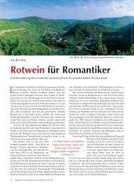 Rotwein für Romantiker