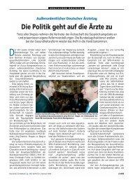 Außerordentlicher Deutscher Ärztetag Die Politik geht auf die Ärzte zu