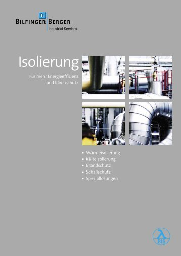 Isolierung - Bilfinger Berger Industrial Services