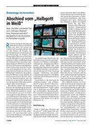 """Abschied vom """"Halbgott in Weiß"""""""