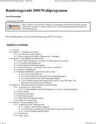 Bundestagswahl 2009/Wahlpro... - Blog.de