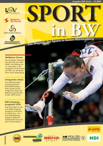 Sport in bw Nr. 12/09 - Badischer Sportbund Nord ev