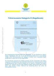 Führerausweis Kategorie D (Segelboote) - Yachtsport-Resort Lago ...