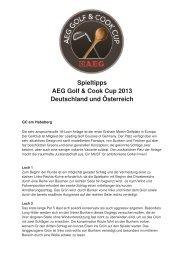 Spieltipps AEG Golf & Cook Cup 2013 Deutschland und ... - Golf.de