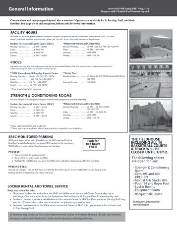 General Information - IU Campus Recreational Sports