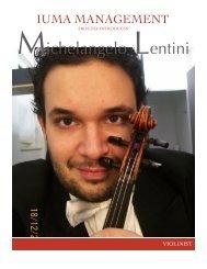 michelangelo lentini promo - IUMA Management