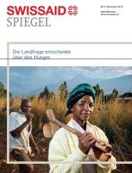 Die Landfrage entscheidet über den Hunger - Swissaid