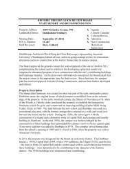 historic preservation review board - Washington, District of Columbia