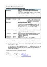 Copenhagen - Agenda week 17, 22-26 April 2013 Overall Agenda ...