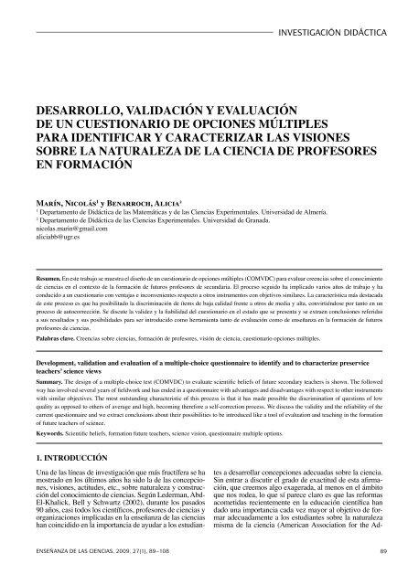 DESARROLLO, VALIDACIÓN Y EVALUACIÓN DE UN ... - RACO