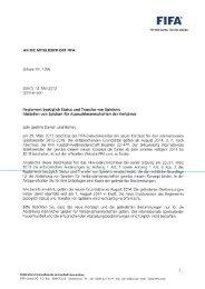 Reglement bezüglich Status und Transfer von Spielern - FIFA.com