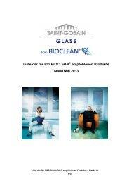 Bioclean Dichtstoffliste - Saint-Gobain Glass