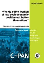 Why do some women of low socioeconomic ... - Deakin University
