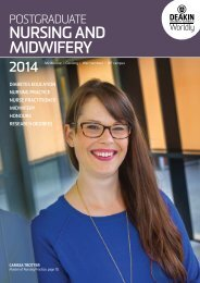 Nursing and midwifery study area booklet - Deakin University