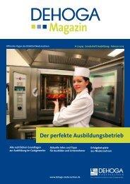 Sonderheft Berufsausbildung - DEHOGA Niedersachsen