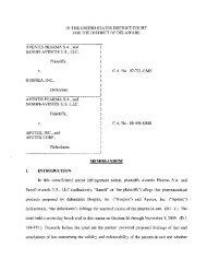 Aventis Pharma S.A., et al. v. Hospira, Inc. - Delaware Patent ...