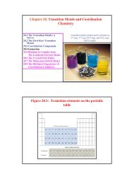 Chapter 20. Transition Metals and Coordination Chemistry Figure ...