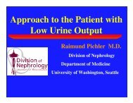 Approach to the Patient with Low Urine Output - University of ...