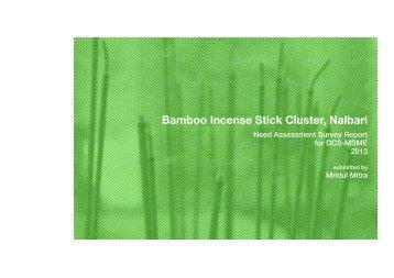 Bamboo Incense Stick Cluster, Nalbari - Design Clinic Scheme
