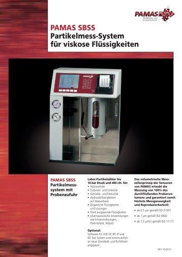 PAMAS SBSS Partikelmess-System für viskose Flüssigkeiten