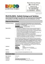 RUCOLINOL Halböl-Holzgrund farblos