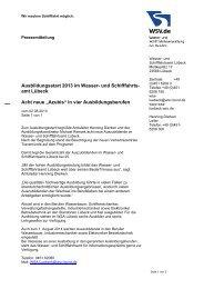 Ausbildungsstart 2013 im Wasser- und Schifffahrts- amt ... - WSV
