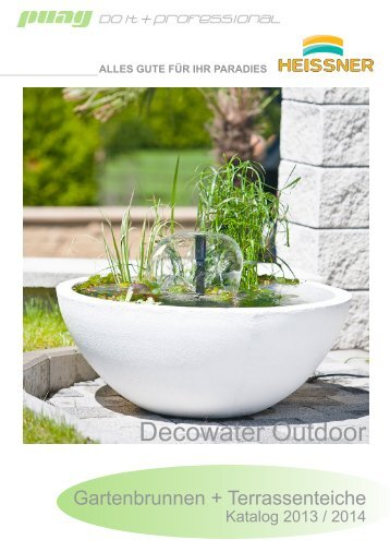 Heissner Decowater Outdoor Katalog - puag AG