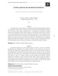 32 PLOTINUS, ARISTOTLE AND THE ORIGIN OF THE ... - Dialnet