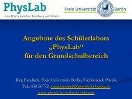 Experimentierzyklus Grundschule - Didaktik der Physik - Freie ...